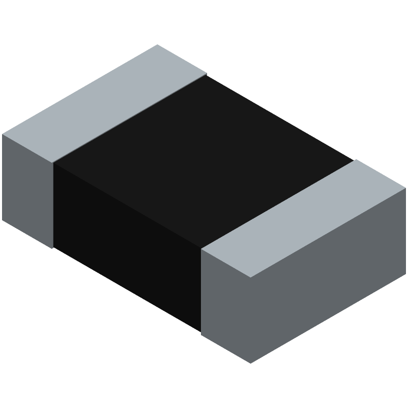 Bourns CR0805-FX-1002ELF (Resistor Chip) 3D model isometric projection.