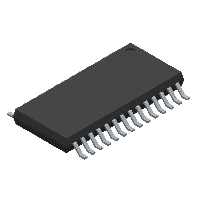 Nuvoton N79E855AWG (Small Outline Packages) 3D model isometric projection.