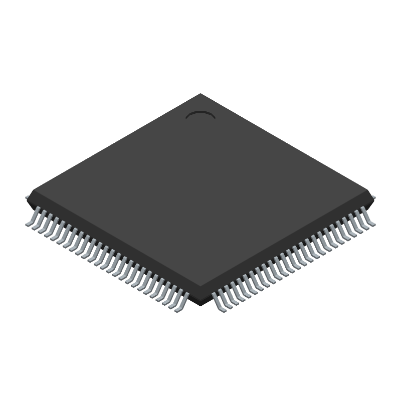 STMicroelectronics STM32F407VGT6 (Quad Flat Packages) 3D model isometric projection.