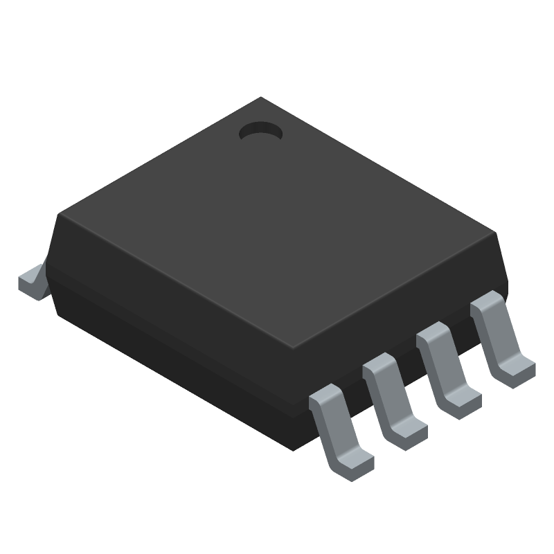 Texas Instruments SN74LVC3G17DCUR (Small Outline Packages) 3D model isometric projection.