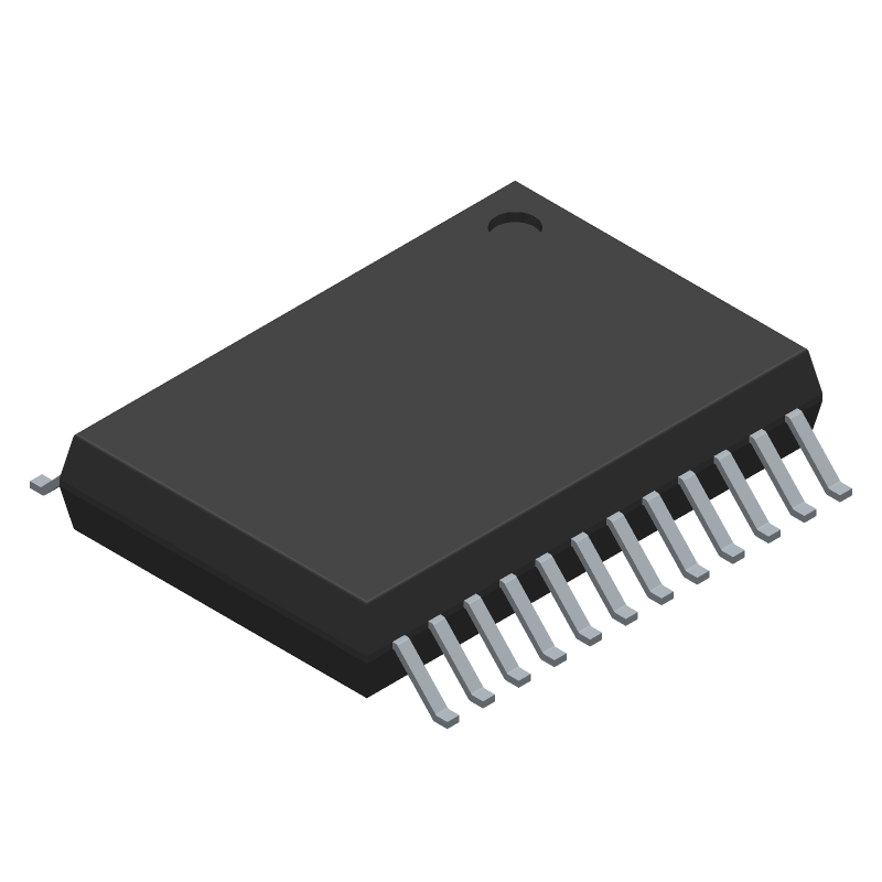 Toshiba TB6612FNG,C,8,EL (Small Outline Packages) 3D model isometric projection.