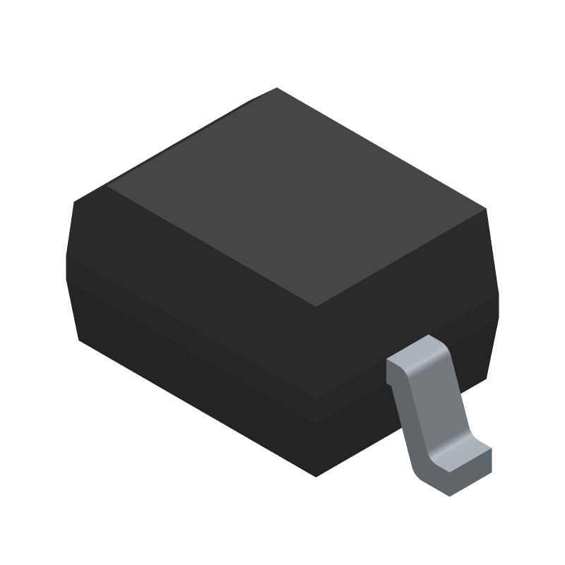 Vishay 1N4148WS-E3-08 (Small Outline Diode) 3D model isometric projection.