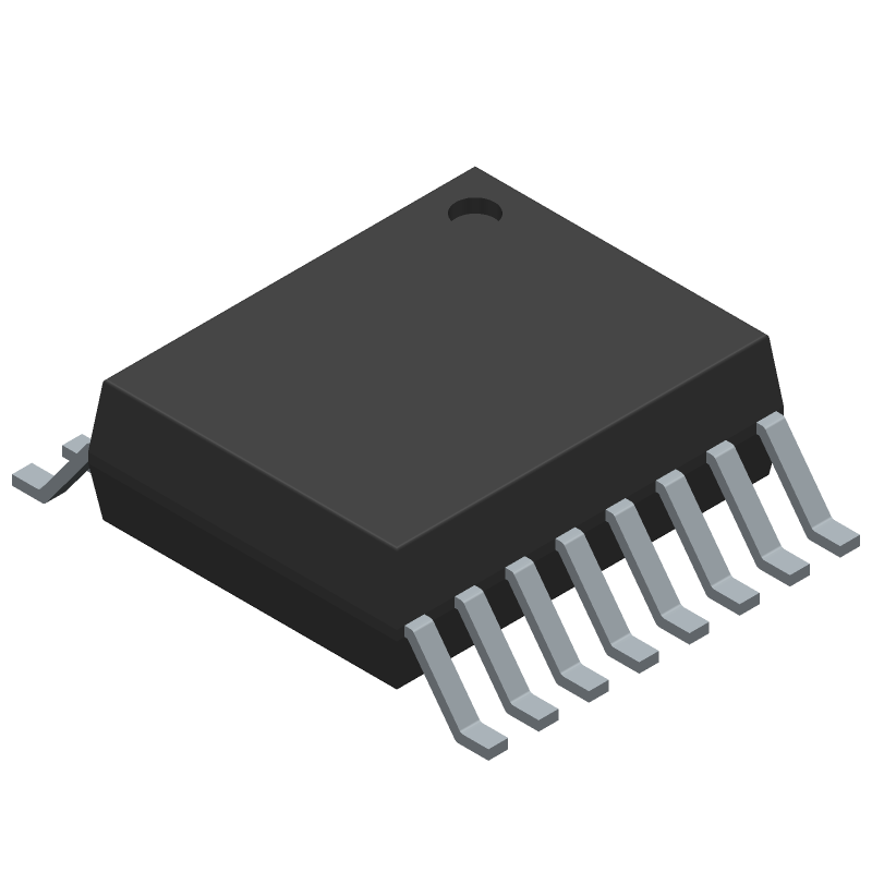 Maxim Integrated MAX1239EEE+ (Small Outline Packages) 3D model isometric projection.