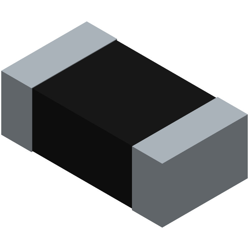 Panasonic ERJ3EKF3833V (Resistor Chip) 3D model isometric projection.