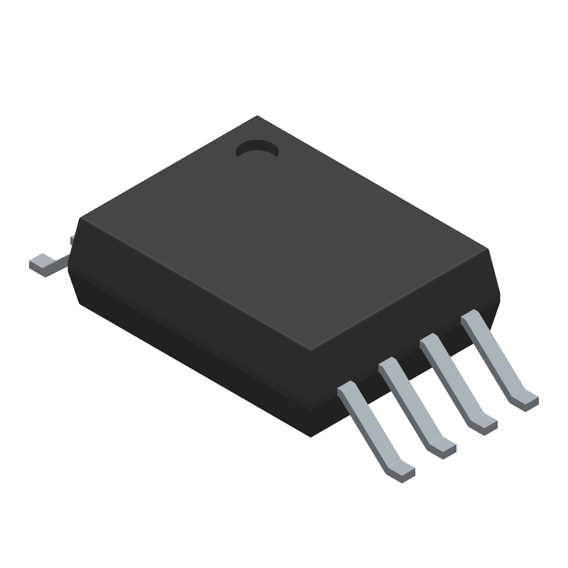 Texas Instruments AMC1106M05DWVR (Small Outline Packages) 3D model isometric projection.