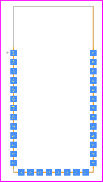 PCB Footprint for BLUETOOTH-SERIAL-HC-06