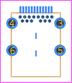 PCB Footprint for 632723300011