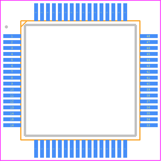 PCB Footprint for STM32F446RET6