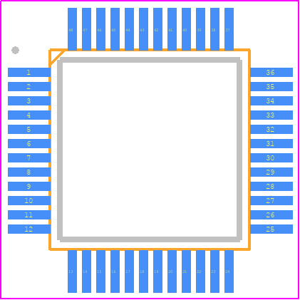 PCB Footprint for VS1063A-L